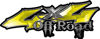 Off Road Twisted Series 4x4 Truck Bedside or Fender Emblem Decals in Yellow