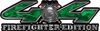 Firefighter Fire Department Maltese Cross 4x4 Fire Fighter Edition Decals in Green Camouflage