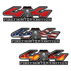 4x4 Firefighter Edition Decal with Maltese Cross