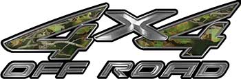 4x4 Off Road ATV Truck or SUV Decals in Camouflage