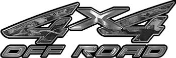 4x4 Off Road ATV Truck or SUV Decals in Gray Camouflage