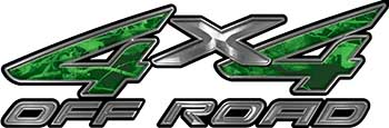 4x4 Off Road ATV Truck or SUV Decals in Green Camouflage