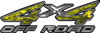 4x4 Off Road ATV Truck or SUV Decals in Yellow Camouflage