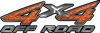 4x4 Off Road ATV Truck or SUV Decals in Orange Diamond Plate