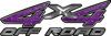 4x4 Off Road ATV Truck or SUV Decals in Purple Diamond Plate