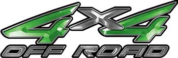 4x4 Off Road ATV Truck or SUV Decals in Green