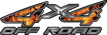 4x4 Off Road ATV Truck or SUV Decals in Inferno