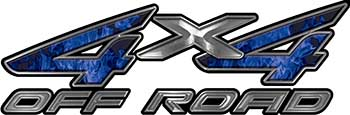4x4 Off Road ATV Truck or SUV Decals in Blue Inferno