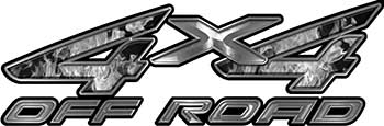 4x4 Off Road ATV Truck or SUV Decals in Gray Inferno
