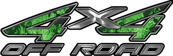 4x4 Off Road ATV Truck or SUV Decals in Green Inferno
