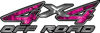 4x4 Off Road ATV Truck or SUV Decals in Pink Inferno