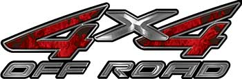4x4 Off Road ATV Truck or SUV Decals in Red Inferno