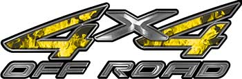 4x4 Off Road ATV Truck or SUV Decals in Yellow Inferno