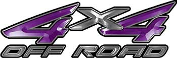 4x4 Off Road ATV Truck or SUV Decals in Purple