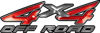 4x4 Off Road ATV Truck or SUV Decals in Red