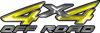 4x4 Off Road ATV Truck or SUV Decals in Yellow