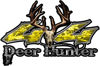 Deer Hunter Twisted Series 4x4 Truck Bedside or Fender Emblem Decals in Yellow Camouflage