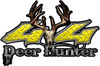 Deer Hunter Twisted Series 4x4 Truck Bedside or Fender Emblem Decals in Yellow Diamond Plate