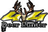 Deer Hunter Twisted Series 4x4 Truck Bedside or Fender Emblem Decals in Yellow