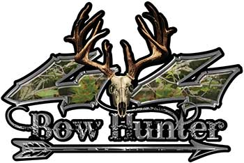 Bow Hunter Twisted Series 4x4 Truck Decal Kit with Arrow in Camouflage