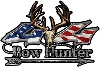 Bow Hunter Twisted Series 4x4 Truck Decal Kit with Arrow with American Flag