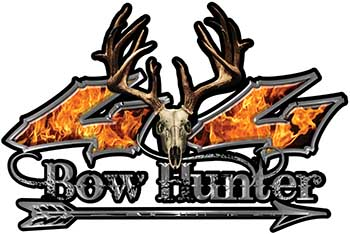 Bow Hunter Twisted Series 4x4 Truck Decal Kit with Arrow in Inferno
