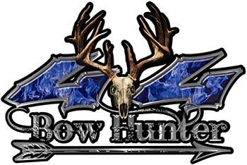 Bow Hunter Twisted Series 4x4 Truck Decal Kit with Arrow in Blue Inferno