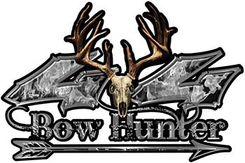 Bow Hunter Twisted Series 4x4 Truck Decal Kit with Arrow in Gray Inferno