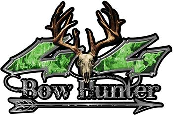 Bow Hunter Twisted Series 4x4 Truck Decal Kit with Arrow in Green Inferno