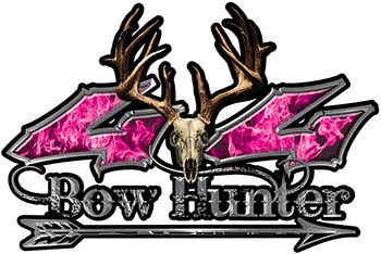 Bow Hunter Twisted Series 4x4 Truck Decal Kit with Arrow in Pink Inferno