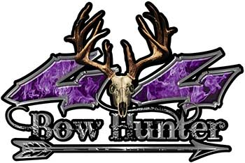 Bow Hunter Twisted Series 4x4 Truck Decal Kit with Arrow in Purple Inferno