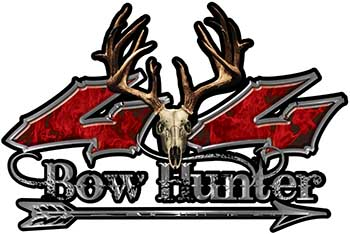 Bow Hunter Twisted Series 4x4 Truck Decal Kit with Arrow in Red Inferno