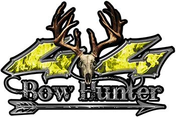 Bow Hunter Twisted Series 4x4 Truck Decal Kit with Arrow in Yellow Inferno