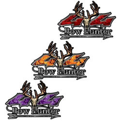 Bow Hunting 4x4 Decals with Arrow and Deer Skull