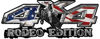 Rodeo Edition Bucking Bronco 4x4 ATV Truck or SUV Decals with American Flag