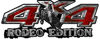 Rodeo Edition Bucking Bronco 4x4 ATV Truck or SUV Decals in Red Camouflage
