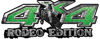 Rodeo Edition Bucking Bronco 4x4 ATV Truck or SUV Decals in Green Diamond Plate