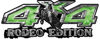Rodeo Edition Bucking Bronco 4x4 ATV Truck or SUV Decals in Green