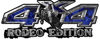 Rodeo Edition Bucking Bronco 4x4 ATV Truck or SUV Decals in Blue Inferno