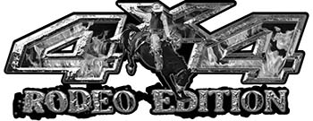 Rodeo Edition Bucking Bronco 4x4 ATV Truck or SUV Decals in Gray Inferno