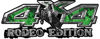 Rodeo Edition Bucking Bronco 4x4 ATV Truck or SUV Decals in Green Inferno