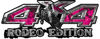 Rodeo Edition Bucking Bronco 4x4 ATV Truck or SUV Decals in Pink Inferno