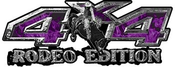 Rodeo Edition Bucking Bronco 4x4 ATV Truck or SUV Decals in Purple Inferno