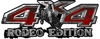 Rodeo Edition Bucking Bronco 4x4 ATV Truck or SUV Decals in Red Inferno