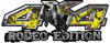 Rodeo Edition Bucking Bronco 4x4 ATV Truck or SUV Decals in Yellow Inferno