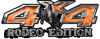 Rodeo Edition Bucking Bronco 4x4 ATV Truck or SUV Decals in Orange