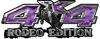 Rodeo Edition Bucking Bronco 4x4 ATV Truck or SUV Decals in Purple