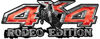 Rodeo Edition Bucking Bronco 4x4 ATV Truck or SUV Decals in Red