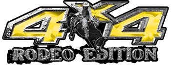 Rodeo Edition Bucking Bronco 4x4 ATV Truck or SUV Decals in Yellow