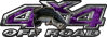 Largemouth Bass Fishing Edition 4x4 Off Road ATV Truck or SUV Decals in Purple Camouflage